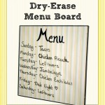 DIY: Dry-Erase Menu Board
