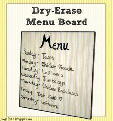 DIY: Dry-Erase Menu Board