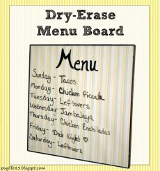 menu board button