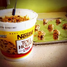 Tub of cookie dough
