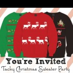 Tacky Christmas Sweater Party Invitations – Free Printable