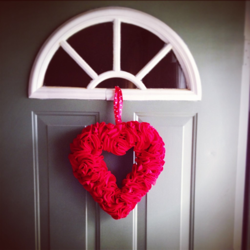 Ruffle Heart Wreath