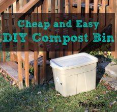 DIY Compost Bin Rubbermaid Tote