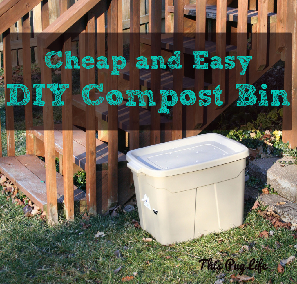 DIY Compost Bin Rubbermaid Tote