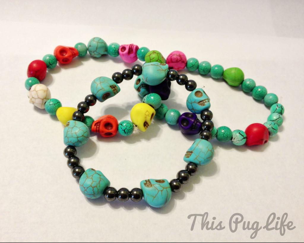 skull bead bracelets