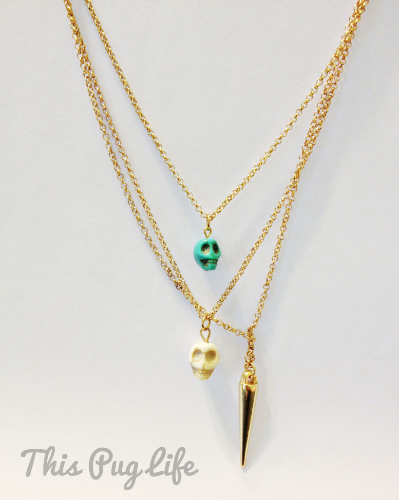 Charlotte Ruse skull necklace