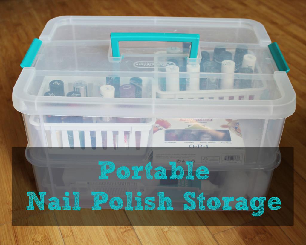 Portable Nail Polish Storage This Pug Life