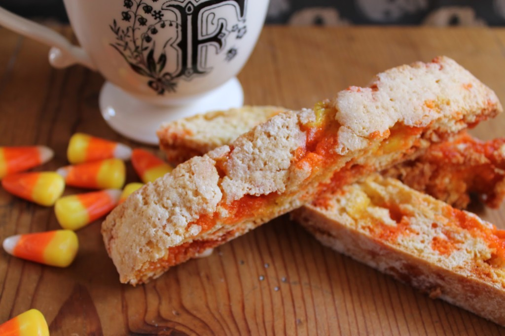 Candy Corn Biscotti