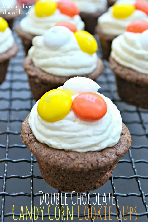 Double Chocolate Candy Corn Cookie Cups 1