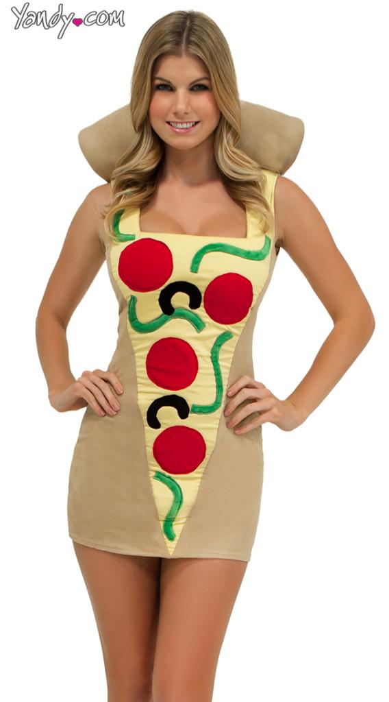 sexy slice of pizza costume
