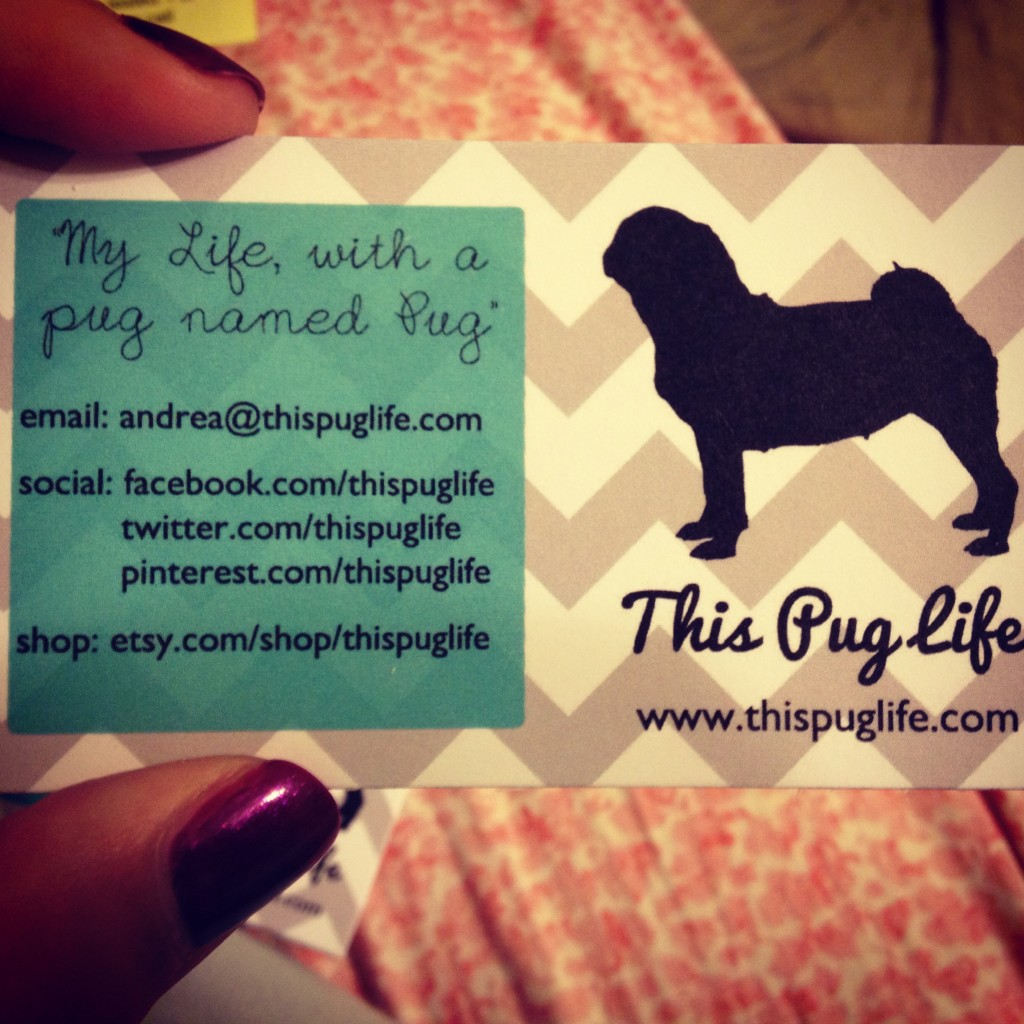 Pug business card