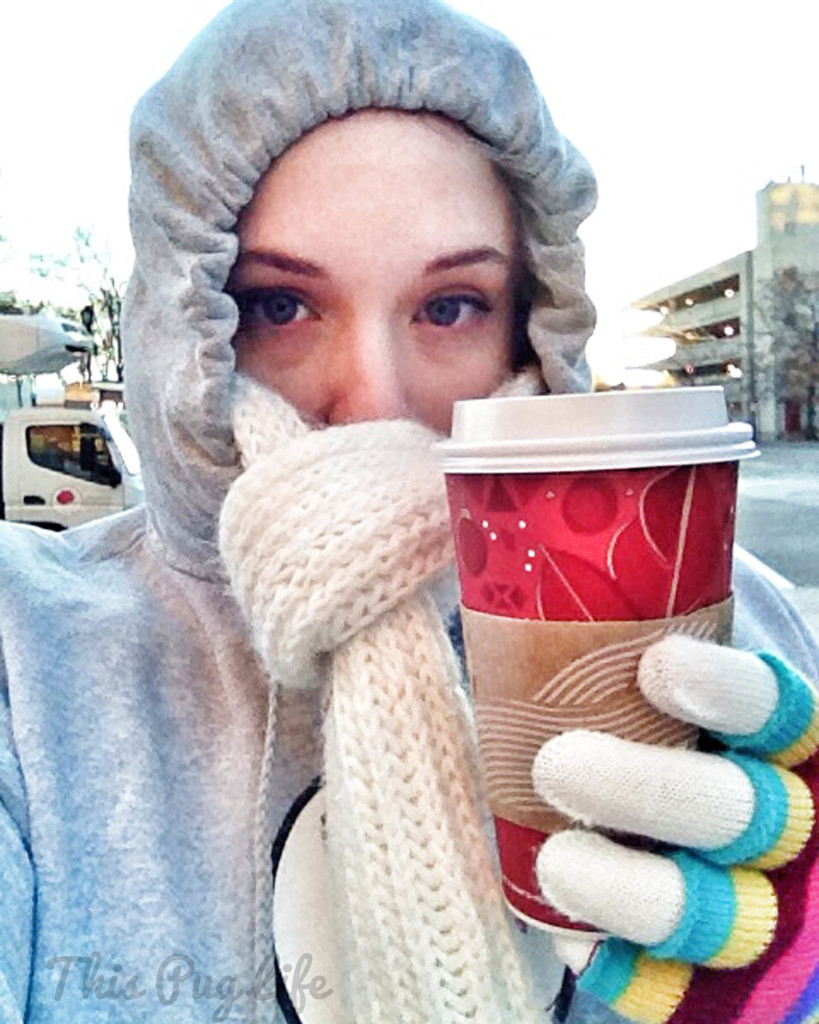 bundled up with Starbucks