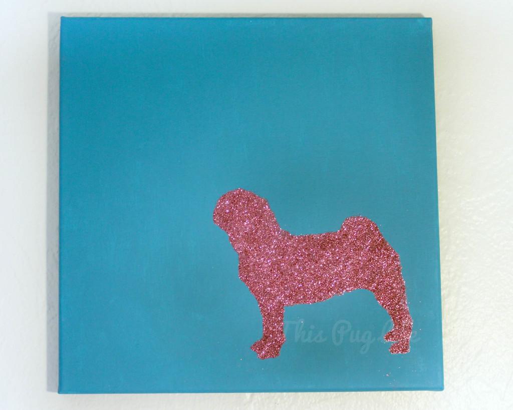 aqua pink pug lighted