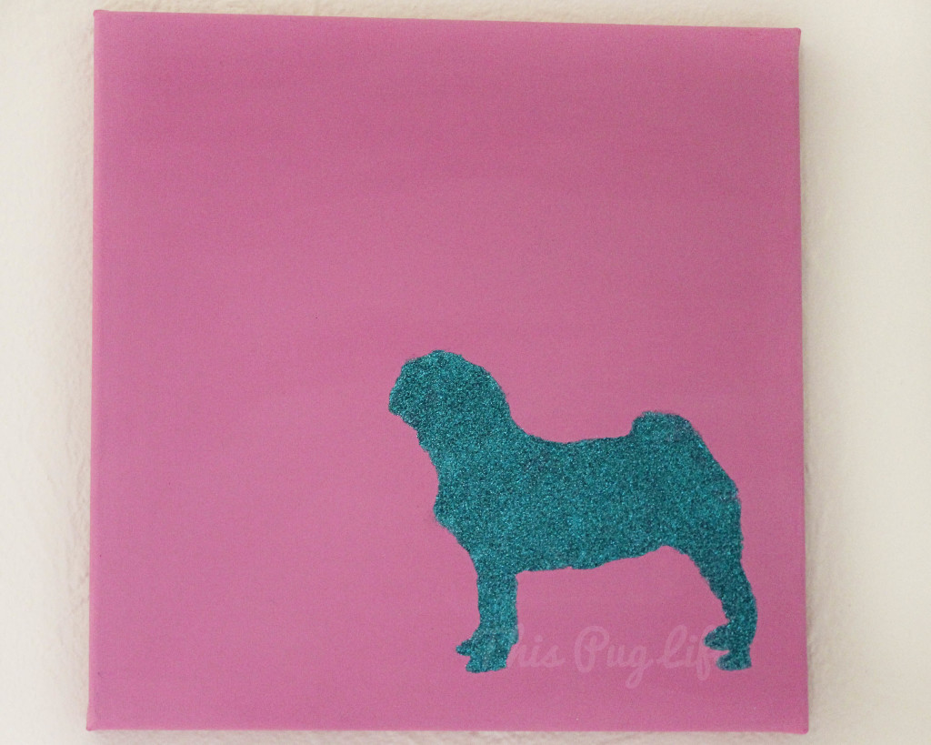 pink aqua pug