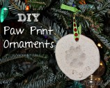 DIY Paw Print Ornaments