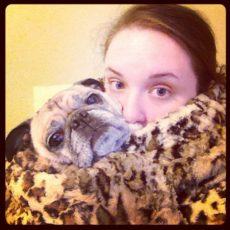 Cuddling with Pug