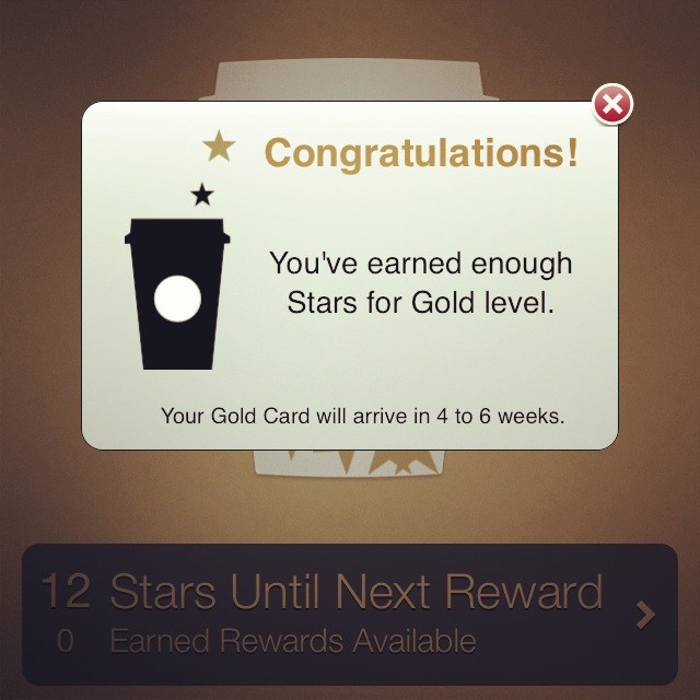 Starbucks Gold Level