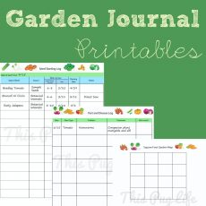 Garden Journal Printables