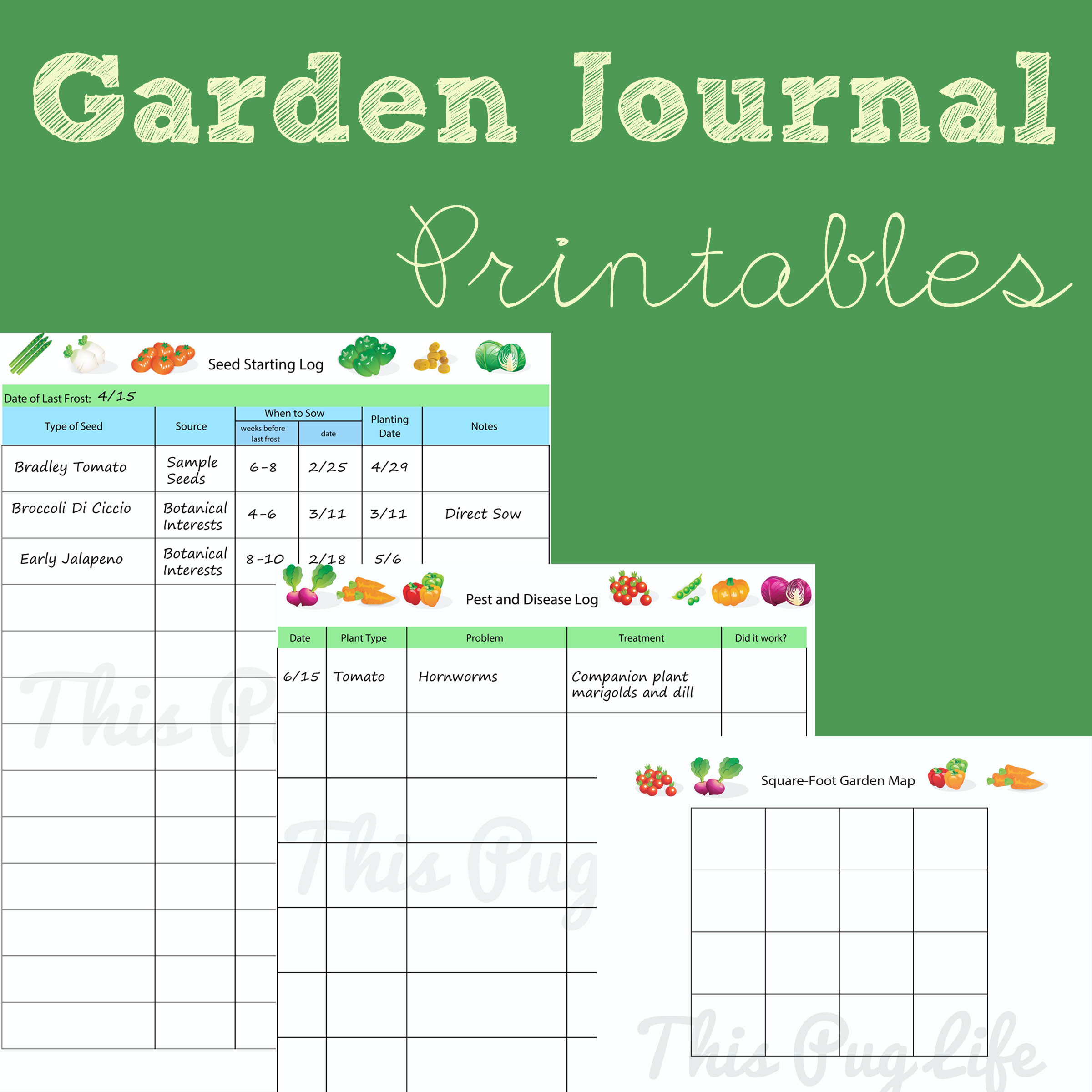 image relating to Free Printable Garden Planner identify Backyard Magazine Printables: Up-to-date This Pug Lifetime