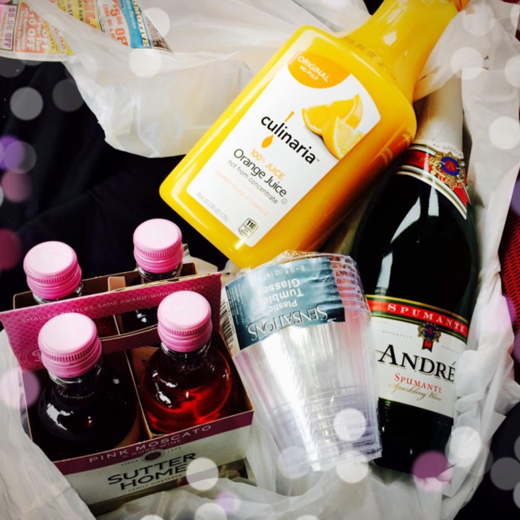mimosas and tiny wine