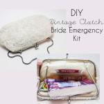 DIY Vintage Clutch Bride Emergency Kit