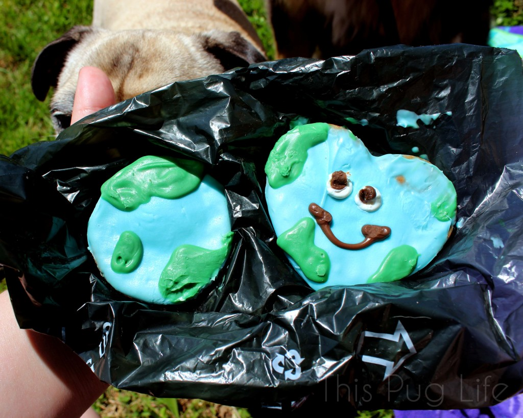 Earth Day Dog Cookies