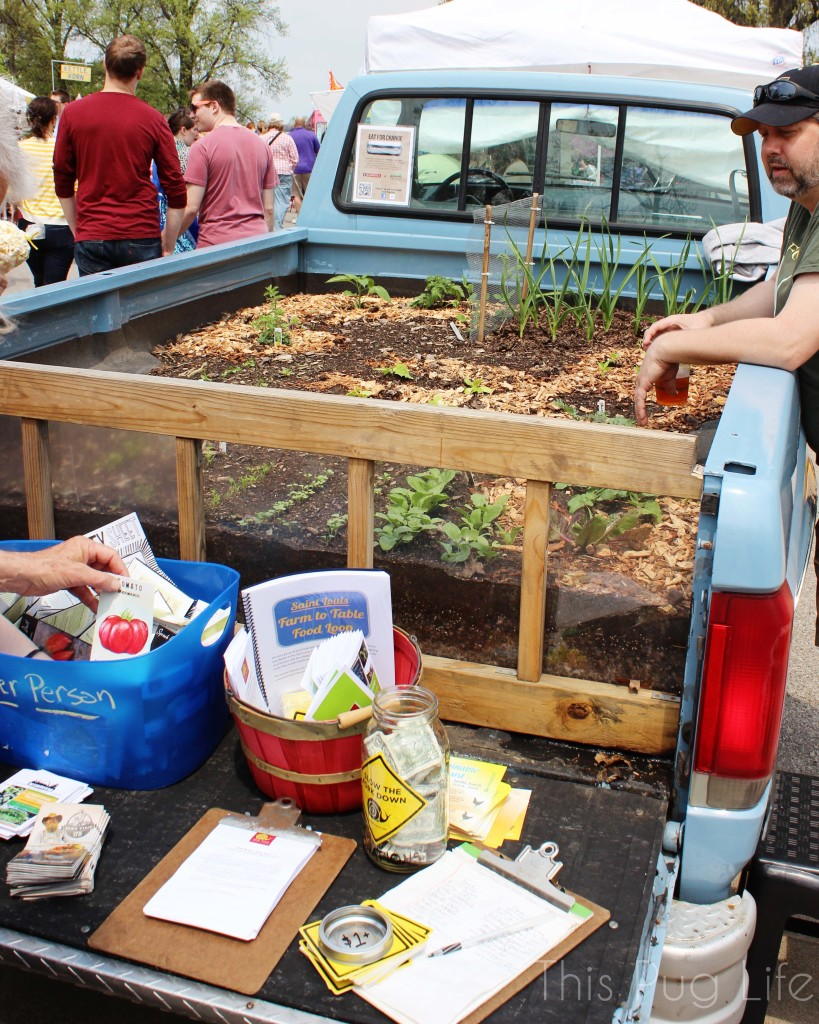 St. Louis Earth Day Festival Truck Bed Garden