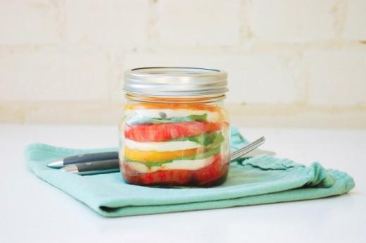 Garden Therapy Mason Jar Caprese Salad