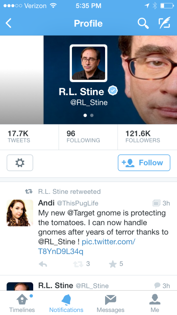 R. L. Stine Retweet