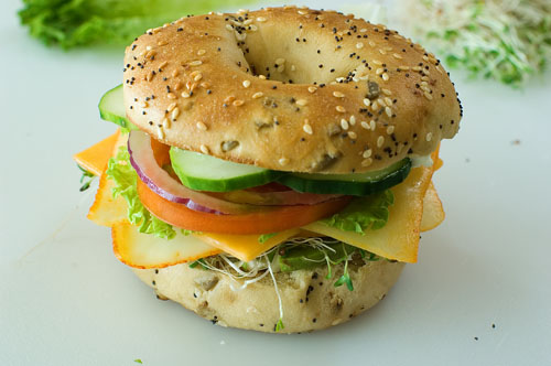 Pioneer Woman Veggie Cheese Bagel