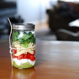 The Muse Caprese Salad in a Jar
