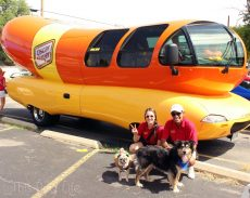 Pug and Molly visit the Oscar Mayer Wiener Mobile