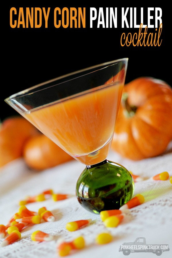 Candy Corn Painkiller Cocktail