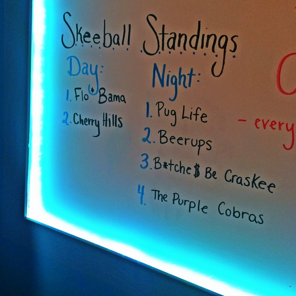 Skee Ball League Standings