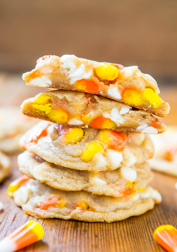Soft Batch White Chocolate Candy Corn Cookies