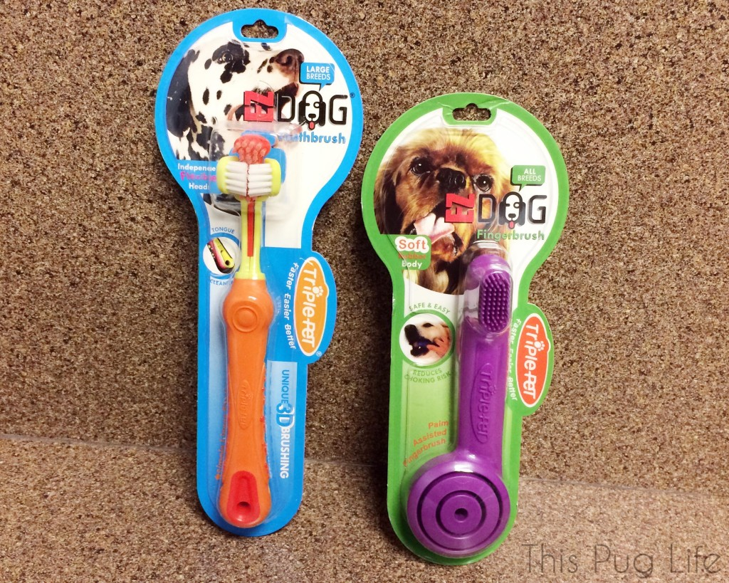 Triple Pet Toothbrushes