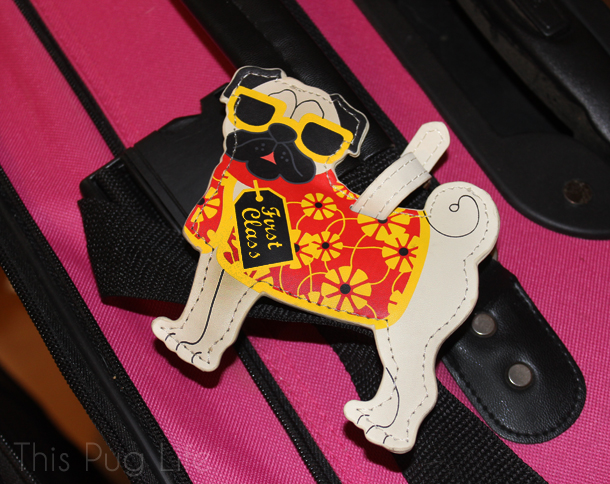Pug Luggage Tag