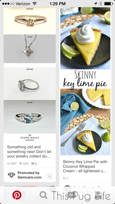 Pinterest Promoted Pins on Mobile