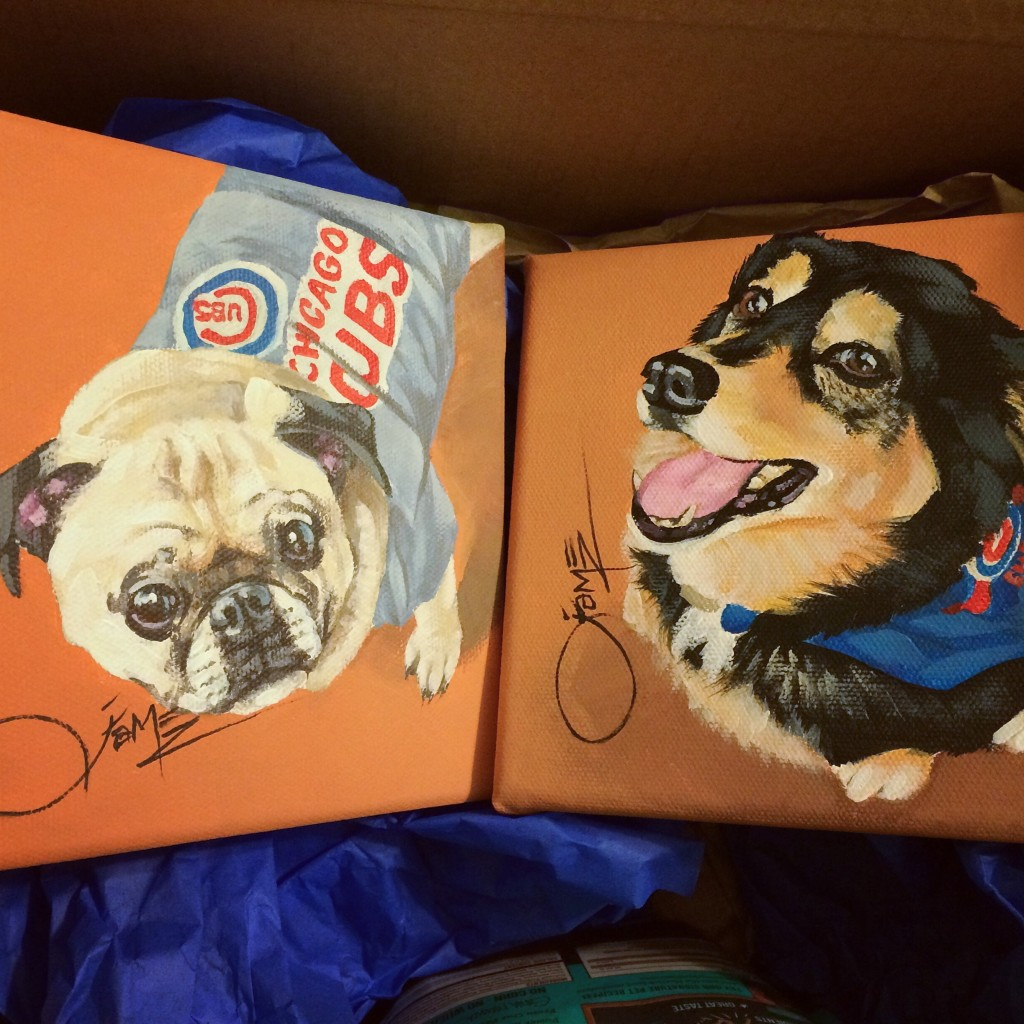 Hand Painted Dog Portraits