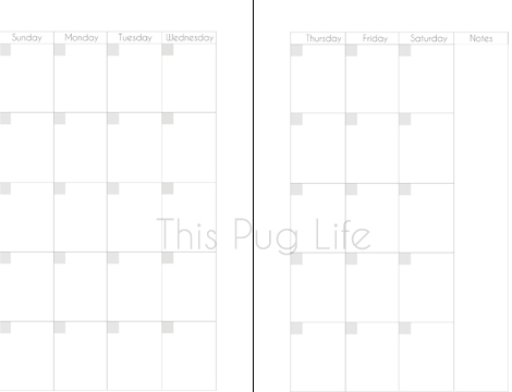picture relating to Printable Planner Inserts referred to as Cost-free Printable Planner Inserts for Franklin Covey/Filofax