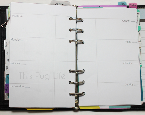 Planner Printable Week on 2