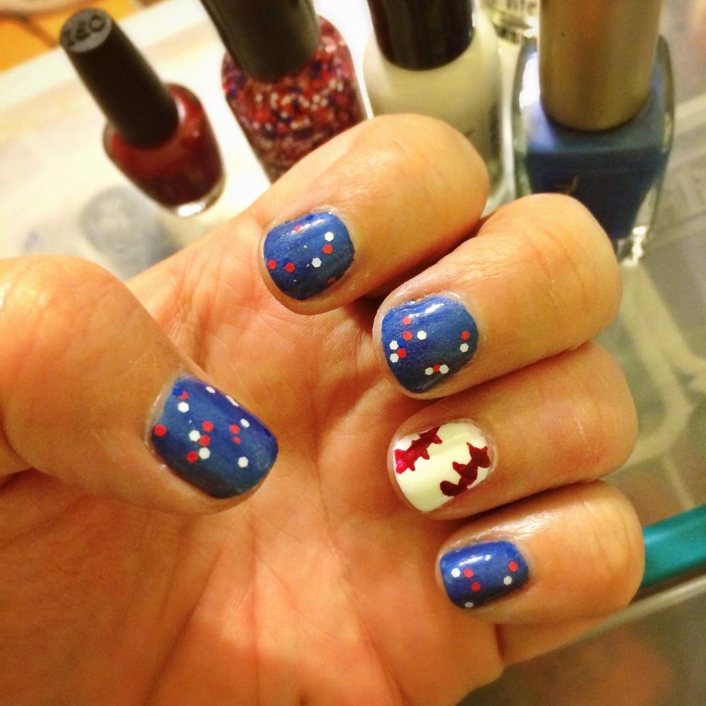 Chicago Cubs Baseball Manicure