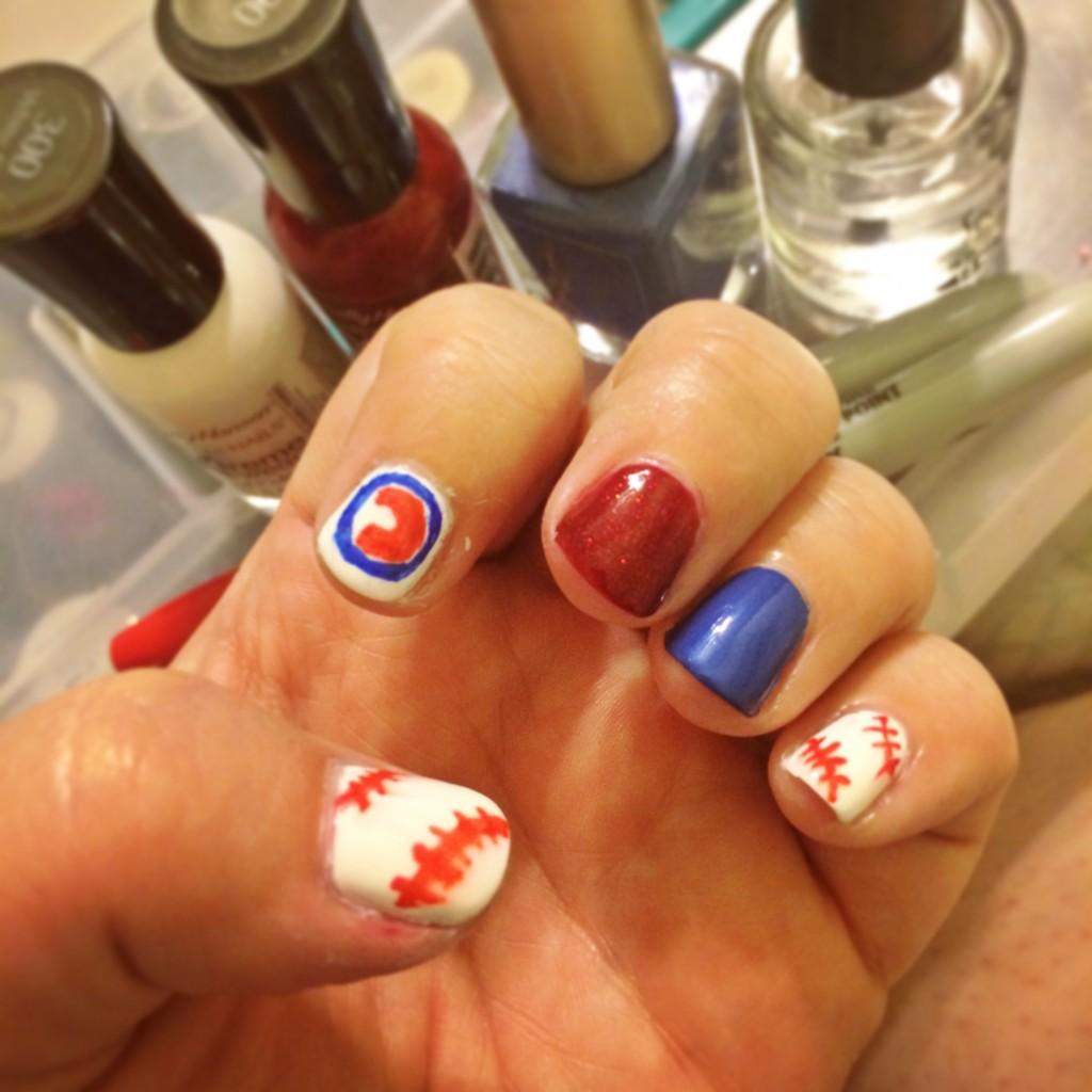 Chicago Cubs Baseball Nails
