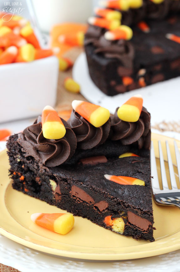 Candy Corn Chocolate Cookie Cake