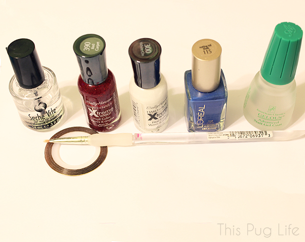 Chicago Cubs Pinstripe Nail Supplies