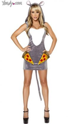 Sexy Pizza Rat Halloween Costume