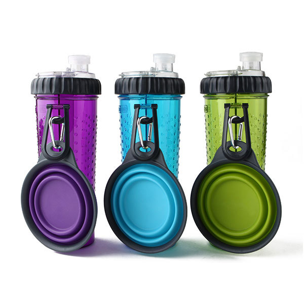 Snack-DuO dual compartment travel cup for pets