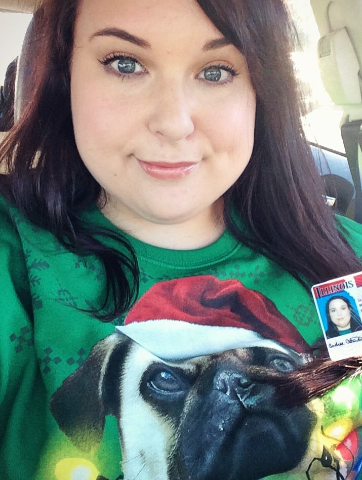 Pug Christmas Shirt ID Picture