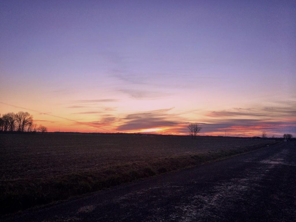 Rural Illinois Midwest Sunset