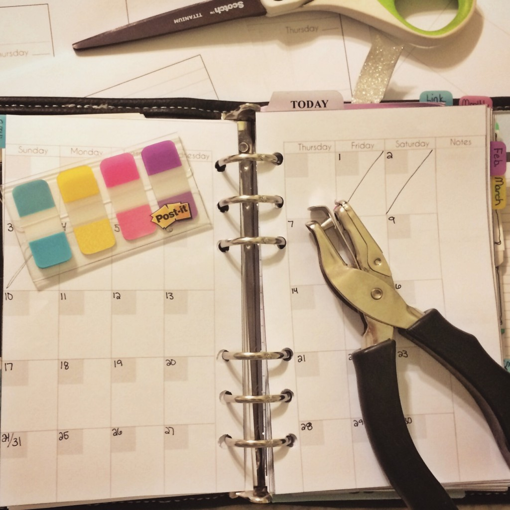 Franklin Covey Faux Filofax planner setup for 2016